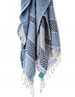 traditionell hergestelltes Hamamtuch leicht hellblau